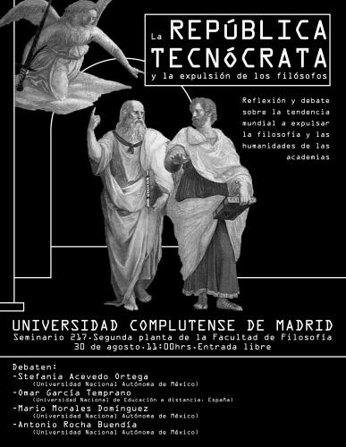 Cartel para evento La República Tecnócrata